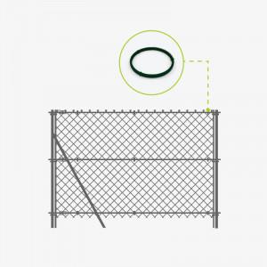 Pose fil attache clôture grillage souple