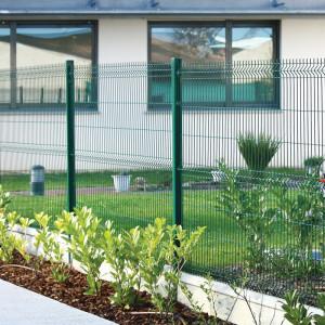 clôture rigide avec dalle de soubassement