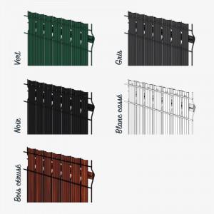 Occultant PVC pour grillage rigide disponible en 5 couleurs