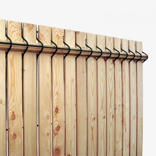 Occultant kit bois de Mélèze pour panneaux rigides